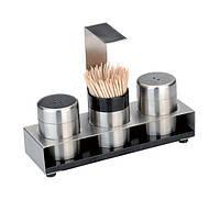 Набор для соли и перца на подставке с зубочистками BergHOFF Cubo (1109565)