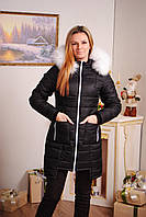 Пальто стеганное зима черное, фото 1
