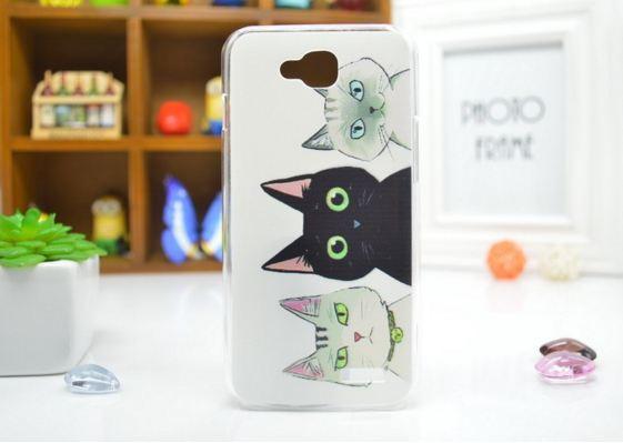 Чехол для LG L90/D405 панель накладка с рисунком три кота