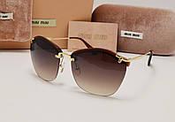 Женские солнцезащитные очки Miu Miu 7879 коричневый цвет, фото 1