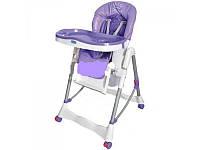 Стульчик RT 002-9 для кормления, корзина, колеса, фиолетовый