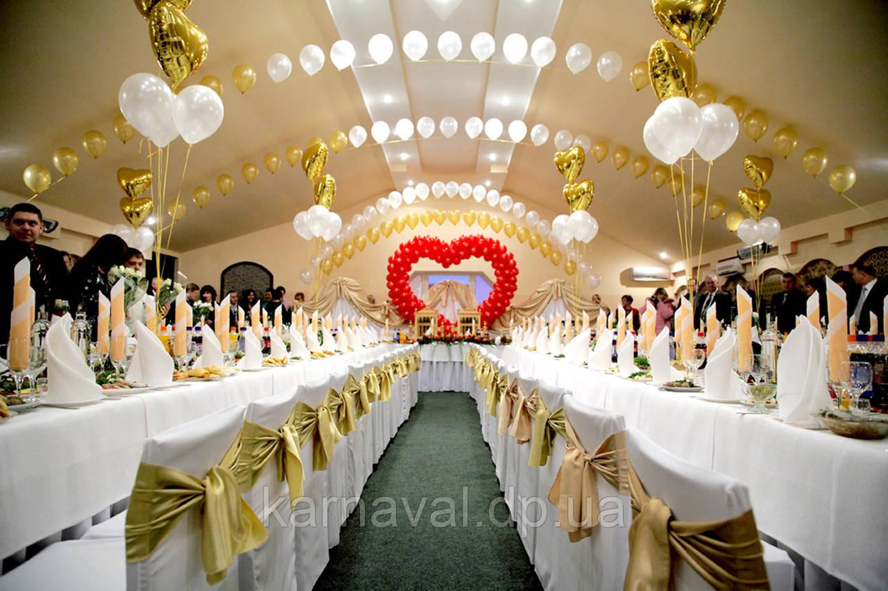 Свадебное оформление воздушными и гелиевыми шарами