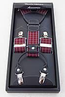 Мужские подтяжки Paolo Udini серо-бордовые, фото 1