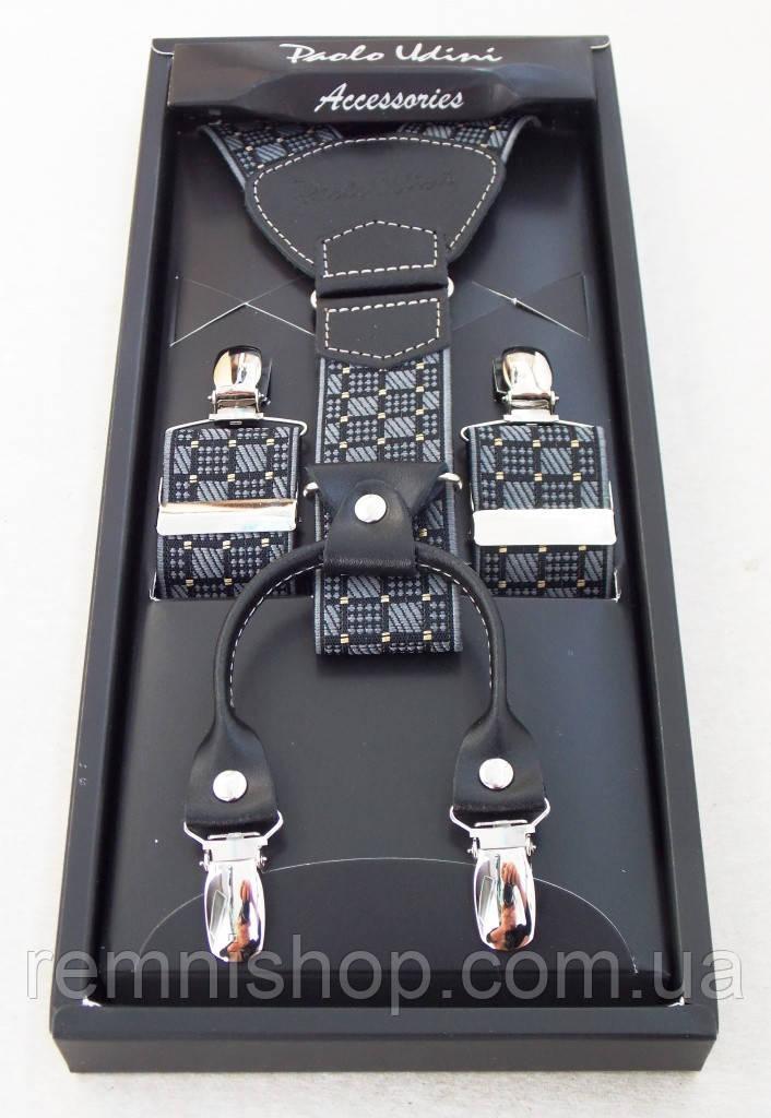 Мужские подтяжки Paolo Udini с кожаными вставками