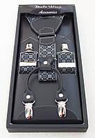 Мужские подтяжки Paolo Udini с кожаными вставками, фото 1
