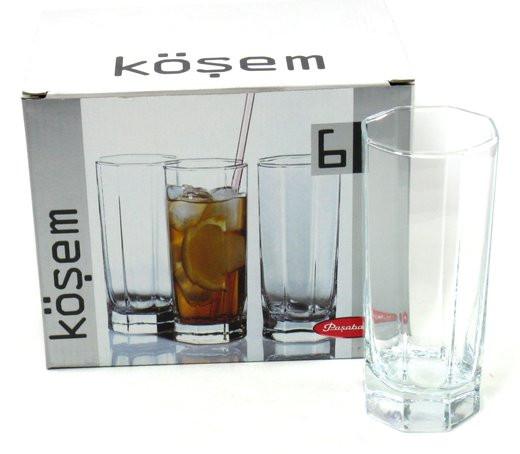 Набор высоких стаканов Кошем Pasabahce 42078