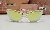Женские солнцезащитные очки Miu Miu  smu 7879 белая оправа, фото 1