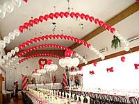 Свадебные арки из воздушных и гелиевых шаров