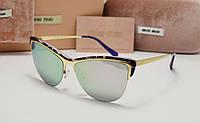 Женские солнцезащитные очки Miu Miu  smu 7879 фиолетовая оправа, фото 1