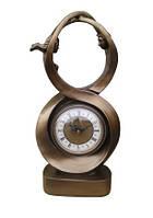 """Часы интерьерные FR-1129bl """"Восьмерка"""" цвет бронза 44 см."""