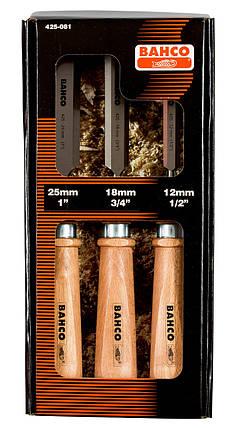 Набор стамесок, 3 шт., деревянные  рукоятки,  Bahco, 425-081, фото 2