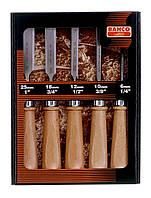 Набор стамесок, 5 шт., деревянные  рукоятки, Bahco, 425-082