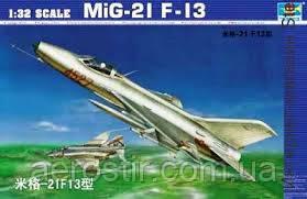 Сборная модель самолета  МИГ-21 F-13 TRUMPETER 1\32
