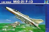 Сборная модель самолета  'МИГ 21 F-13 '    1\32     TROMPETER, фото 1