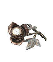 "Часы интерьерные FR-1165bl ""Роза"" цвет бронза   8 см."
