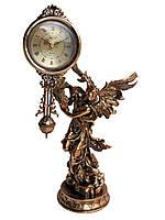 "Часы интерьерные FR-1215g ""Ангел"" Часы с маятником. цвет медь. 33см."