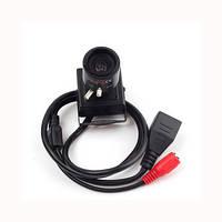 IP камера миниатюрная 1280*720P с варифокальным объективом 2.8-12 мм совместимая с ONVIF 2.0 (модель TOP-203)