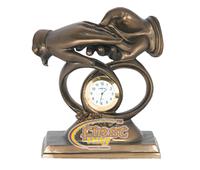 "Часы интерьерные FR-1221bl ""Молодоженам"" цвет бронза 19см."