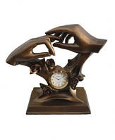 "Часы интерьерные FR-1222bl ""Молодоженам"" цвет бронза 20см."