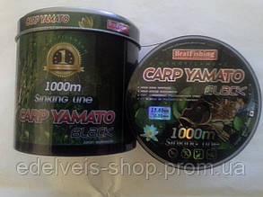 Рибальська волосінь BratFishing CARP YAMATO black 1000m (чорний) 0.45, фото 2