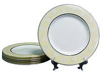 """Набор тарелок из 6 штук  20 см """"Мечта"""" Lefard костяной фарфор 169-016"""