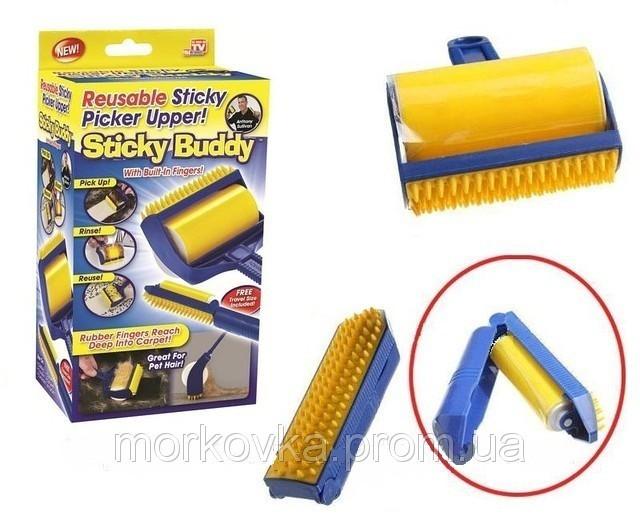 Щетка для чистки одежды ковра Sticky Buddy Стики Бадди липкий валик