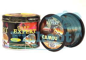 Леска карповая  Carp Expert CAMOU 0.25mm 1000m