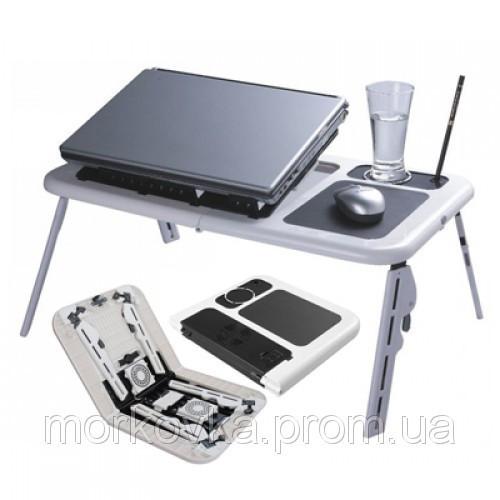 🔥✅ Подставка столик для ноутбука E-Table LD 09 2мя USB кулерами, Етейбл, Е тейбл