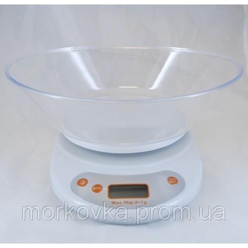 🔥✅ Кухонные электронные весы до 5 кг White EK01, Белые