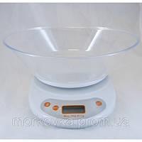 Кухонные электронные весы до 5 кг White EK01,  Белые