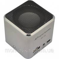 Мини портативная MP3 колонка от USB FM AF-17 Silv,  AF17, AF 17, MicroSD, радио, FM, SDHC, SD, Серая, фото 1