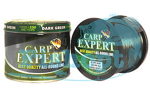 Леска карповая Carp Expert 0.27mm DARK GREEN 1000+200 м