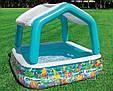 🔥✅ Детский надувной бассейн Intex 57470 с крышей 157x157x122 см, фото 3