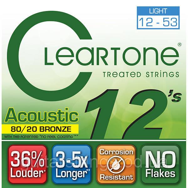 Струны Cleartone 7612 Light 12-53 80/20 Bronze