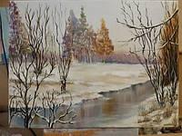 Картина маслом на холсте 30х40 Прощай зима, фото 1