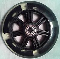 Колесо для самоката 125мм светящееся Черное с подшипниками