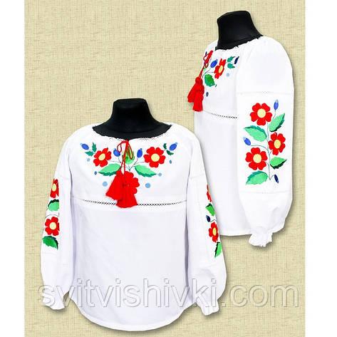 """Вышитая блуза для девочки """" Квіткова радість """", фото 2"""