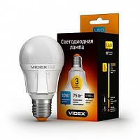 Светодиодная LED лампа VIDEX A60 10W E27 3000K 220V, Киев