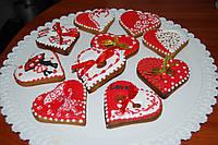 Пряники  для Дня Влюбленных на 14 февраля