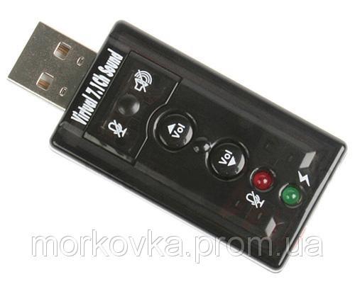 🔥✅ USB звуковая карта 3D Sound card 7 в 1 внешняя адаптер,