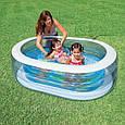 🔥✅ Детский надувной бассейн Нежность Intex 57482 163x107x46 см, фото 2