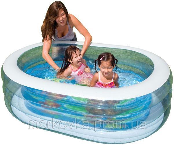 🔥✅ Детский надувной бассейн Нежность Intex 57482 163x107x46 см