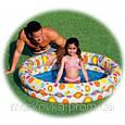 🔥✅ Детский надувной бассейн Intex 59460 Тропические рыбки 122x25 см круг + мяч, надувное дно, фото 2