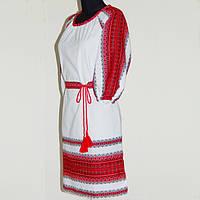 Платье с домотканной ткани(лен)