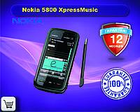 Оригинальный смартфон Nokia 5800 XpressMusic red on black