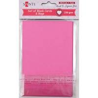 Набор розовых заготовок для открыток, 10см*15см, 230г/м2, 5шт. 952272