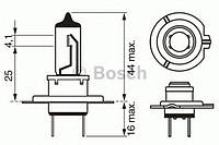 Лампа накаливания H7 12V 55W PX26d LONGLIFE DAYTIME (производство Bosch ), код запчасти: 1987302078