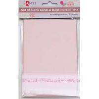 Набор розовых перламутровых заготовок для открыток, 10см*15см, 250г/м2, 5шт. 952246