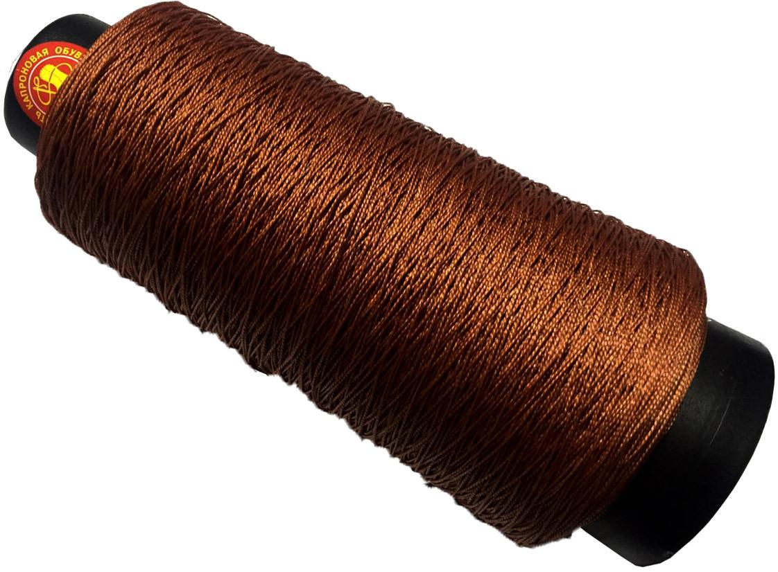 Кордовые нитки 2000м (Текс №187) для обуви, коричневые
