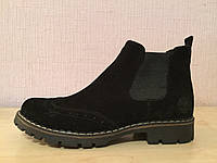 Timberland женские черные ботинки натуральный замш осень весна